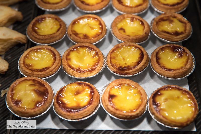 Fresh baked egg tarts at Cafe Zest