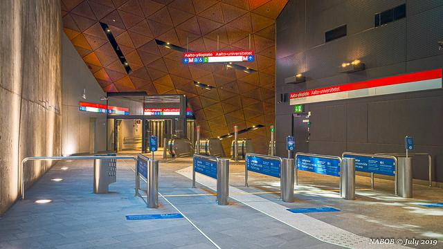 Helsinki, Finland: Aalto University metro station - Opened 2017