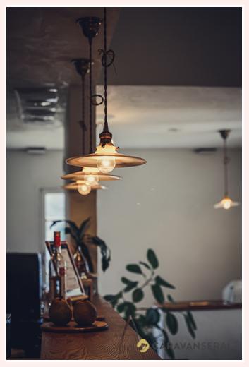 カフェのおしゃれな電灯(灯り)