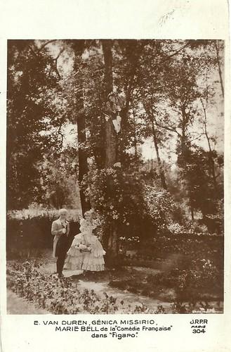Genica Missirio, Marie Bell, and Ernst (Edmond) Van Duren in Figaro (1929)