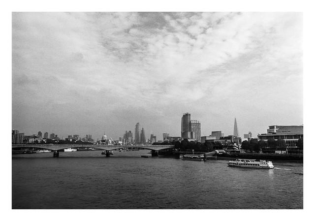 FILM - London from the Golden Jubilee bridge