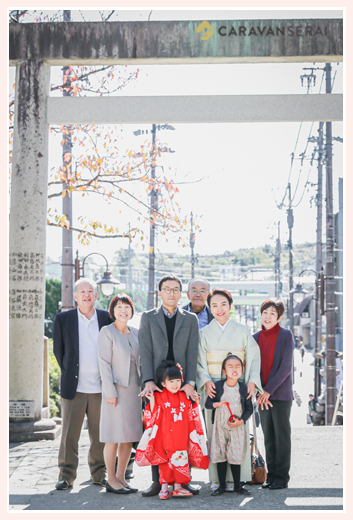 七五三 家族・親族の集合写真