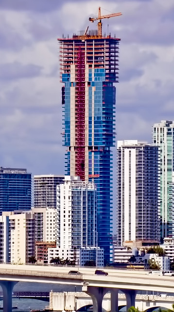 Elysee, 788 NE 23rd Street, Miami, Florida, USA / Completed: 2019 / Height: 196.3 m / 644 ft /  Floors Above Ground: 57 / Architect: Arquitectonica / Main Contractor: John Moriarty & Associates of Florida, Inc.
