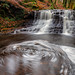 River Roddlesworth Upper Waterfall, Roddlesworth Forest, Lancashire, North West England