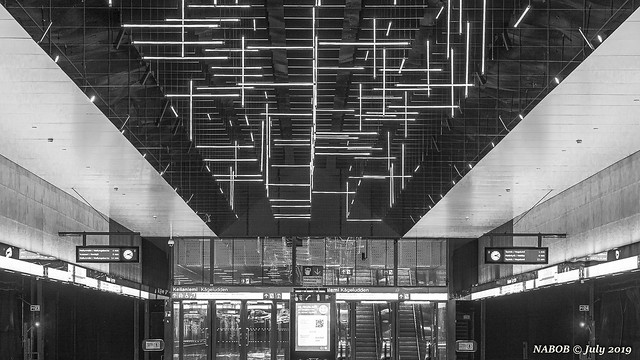 Helsinki, Finland: Keilaniemi metro station - Opened 2017