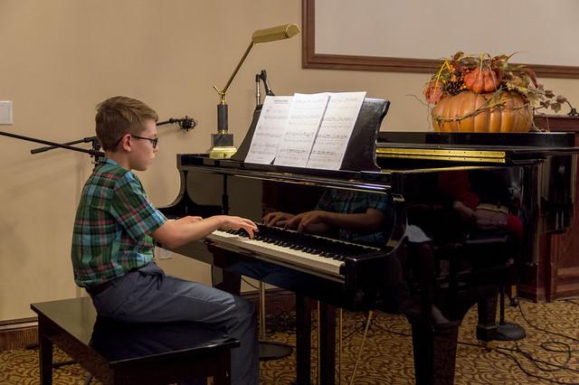 Joshua at Piano Recital