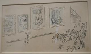 """""""Visite au musée"""", exposition """"Sempé en liberté"""", musée mer marine, rue des Etrangers, Bacalan, Bordeaux, Gironde, Nouvelle-Aquitaine, France."""