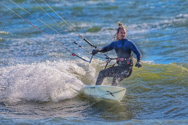 Kite Surfing On The Maine Coast In November