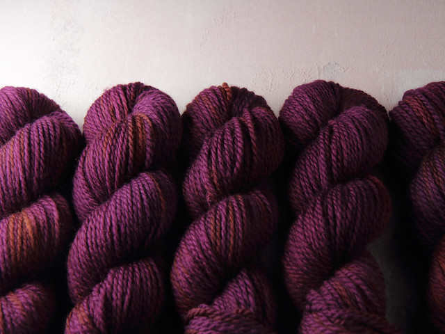 Awesome Aran – pure British superwash wool hand-dyed yarn 100g – 'Dancing in the Dark' (deep purple)