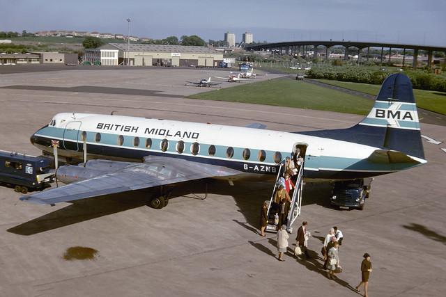 G-AZNB. Vickers Viscount 813 EGPF 1974