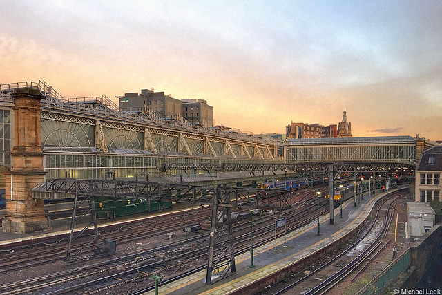 Morning light; Glasgow Central Station, Glasgow, Scotland