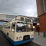 Vintage bus at Preston Bus Station