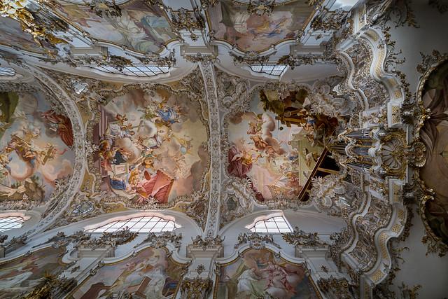Deckeansicht St. Johannes Baptist Steingaden