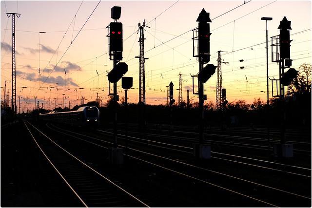 Eisenbahn Silhouette