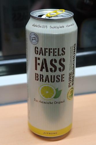 Gaffels Fassbrause Zitrone (im Zug auf der Fahrt von Köln über Herford zurück nach Osnabrück)