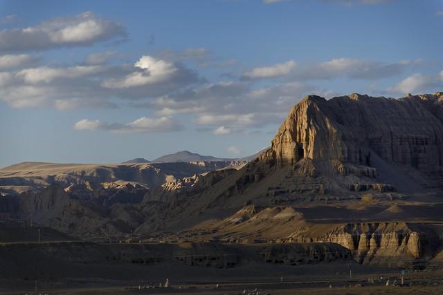 Sunset landscape of Tsamda county, Tibet 2019