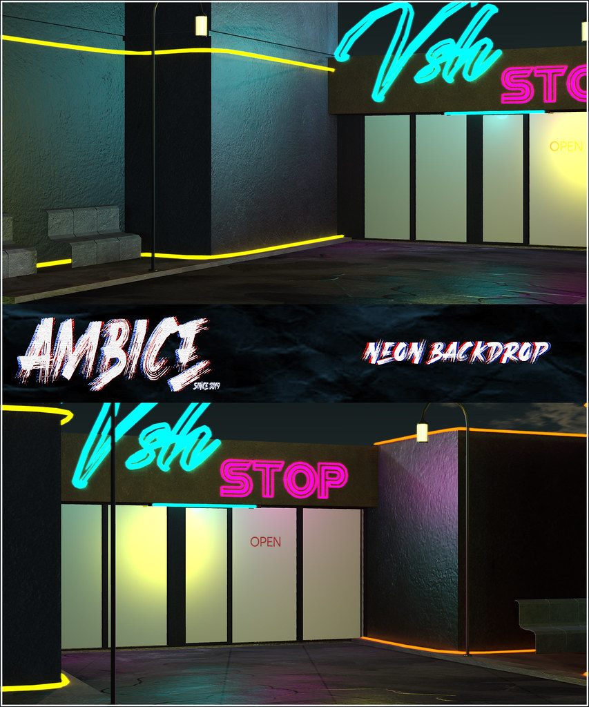 -AMBICE- Neon Backdrop