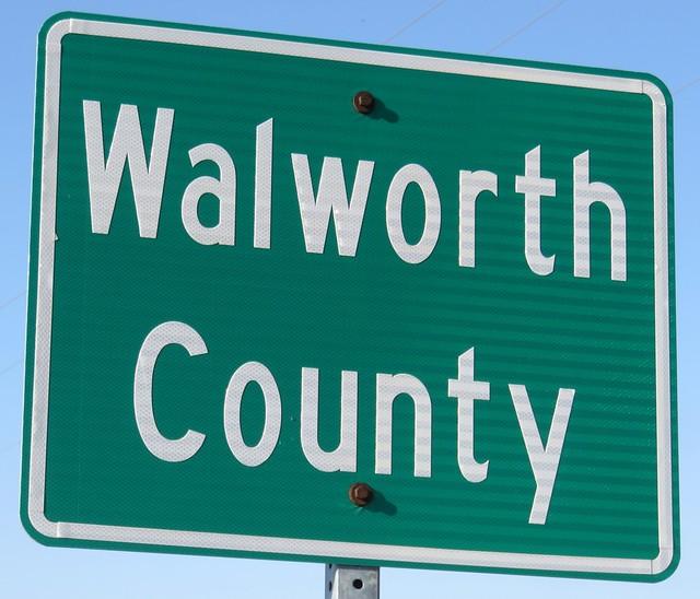 Walworth County Sign (Walworth County, South Dakota)