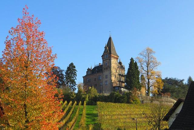 Schloss Rodeck au soleil de novembre.