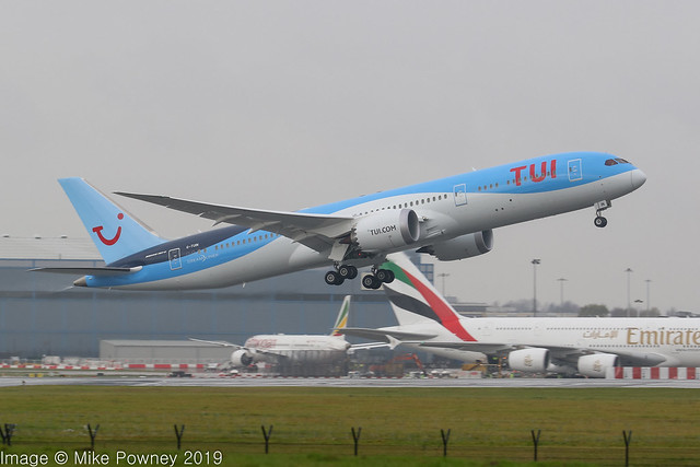 G-TUIN - 2019 build Boeing B787-9, departing Manchester (First Commercial service, to Orlando)