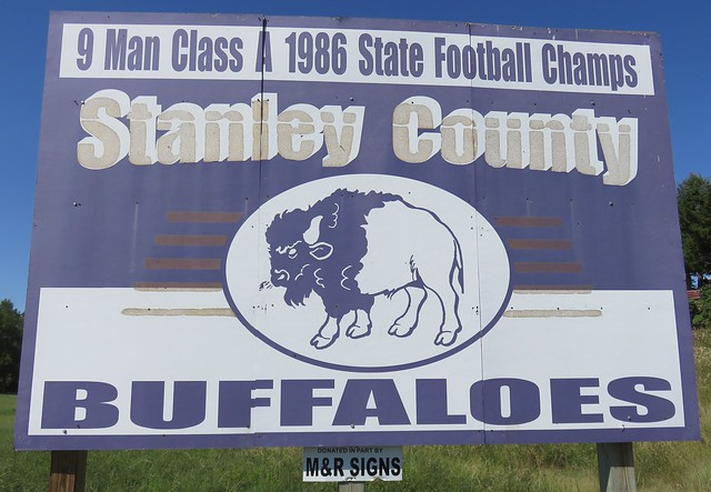 Stanley County Buffaloes Sign (Fort Pierre, South Dakota)