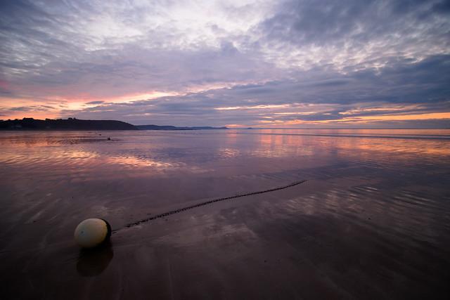 Caroual beach at sunset
