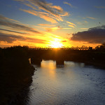 Lovely sunset at the River Ribble at Preston