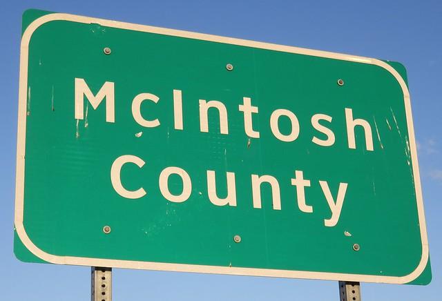 McIntosh County Sign (McIntosh County, North Dakota)
