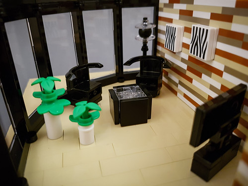 Curry House MOC. Livingroom chairs and table.