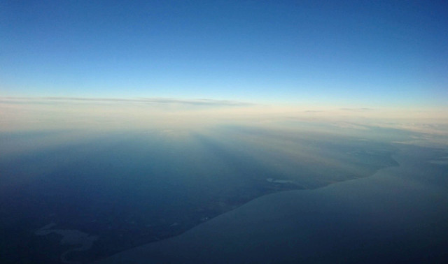 Suffolk coastline from the air
