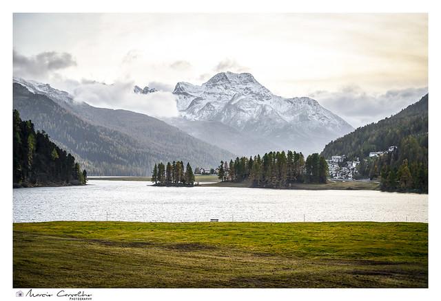 St. Moritz Lake - Autumn panorama -  NZ6_3450