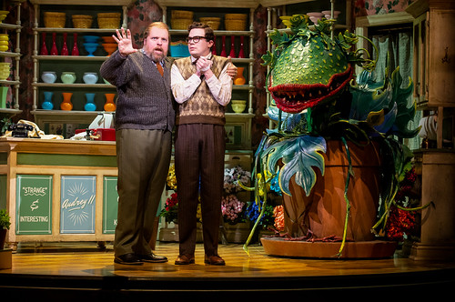 Feed Me A Cult Classic: Little Shop of Horrors at Stratford Festival. Steve Ross (left) as Mr. Mushnik and André Morin as Seymour Krelborn in Little Shop of Horrors. Photo by Cylla von Tiedemann, used with permission of the Stratford Festival.