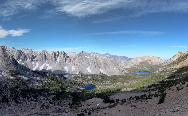 Yet another panorama of the Kearsarge Basin from the Kearsarge Pass Trail