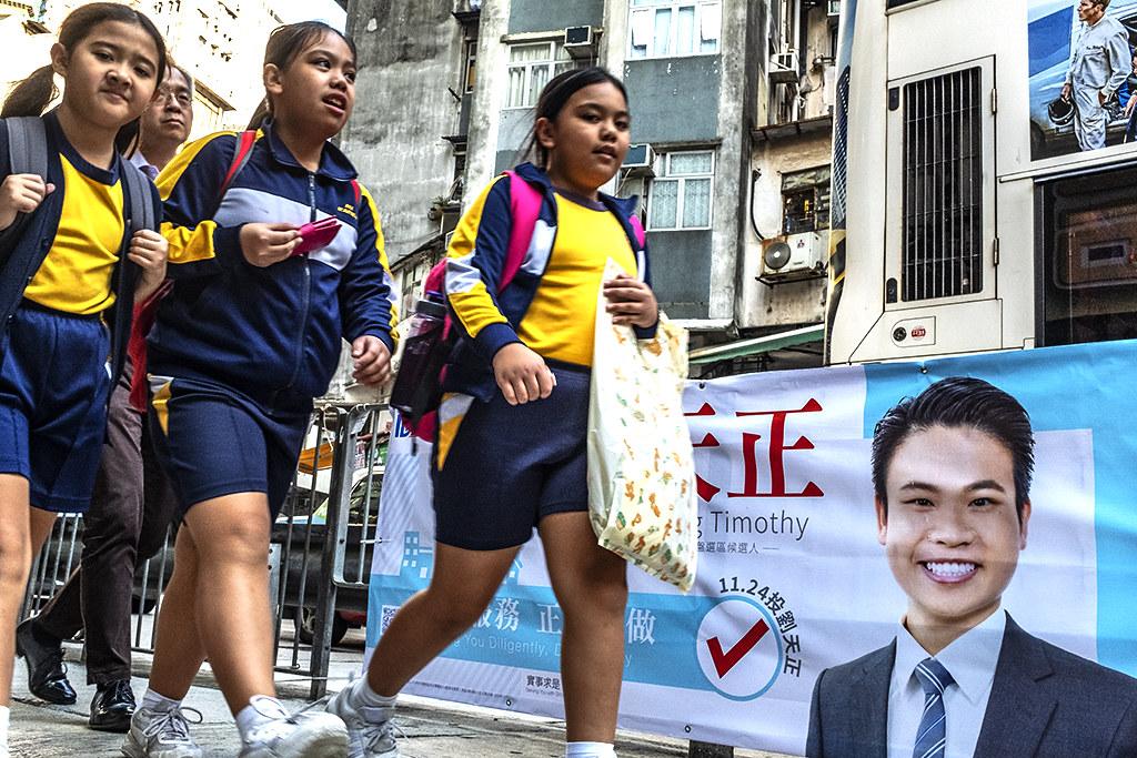 Baby faced politician--Hong Kong