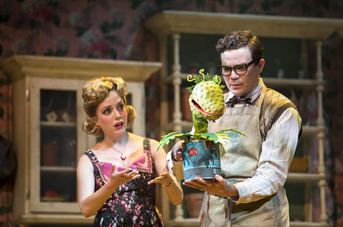 Feed Me A Cult Classic: Little Shop of Horrors at Stratford Festival. Gabi Epstein as Audrey and André Morin as Seymour Krelborn in Little Shop of Horrors. Photo by Chris Young, used with permission of the Stratford Festival.
