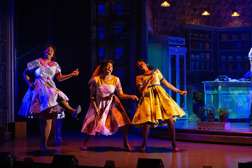 Feed Me A Cult Classic: Little Shop of Horrors at Stratford Festival. From left: Starr Domingue as Crystal, Vanessa Sears as Ronnette and Camille Eanga-Selenge as Chiffon in Little Shop of Horrors. Photography by Cylla von Tiedemann, used with permission of the Stratford Festival.