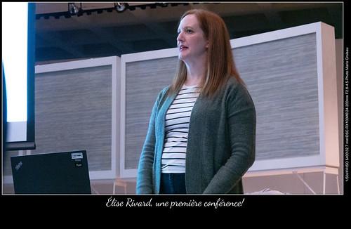 Élise Rivard, une première conférence!