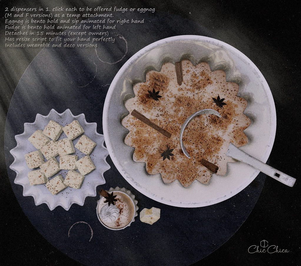 Eggnog and eggnog fudges by ChicChica @ Cosmopolitan