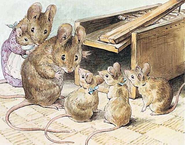 Mice.  Illustration by Beatrix Potter
