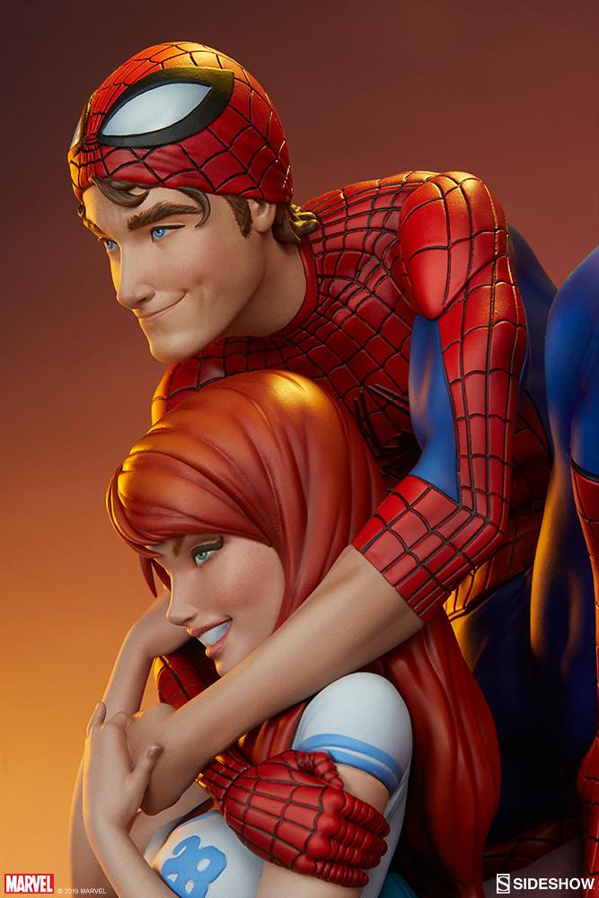 兩人甜蜜蜜的姿態立體化~ Sideshow Collectibles Marvel Comics【蜘蛛人和瑪莉·珍】Spider-Man and Mary Jane 全身雕像 普通版/EX版