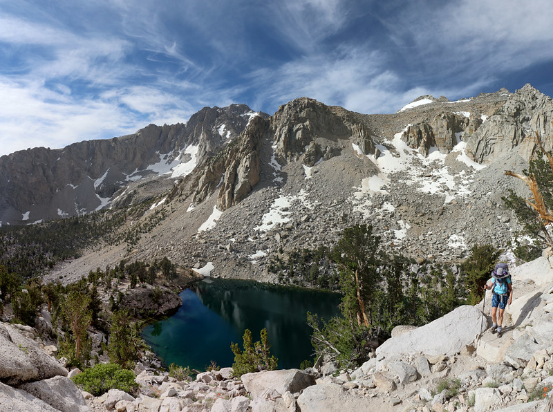 Heart Lake and University Peak from the Kearsarge Pass Trail