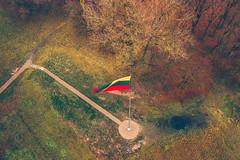 Lithuanian flag | Kaunas aerial