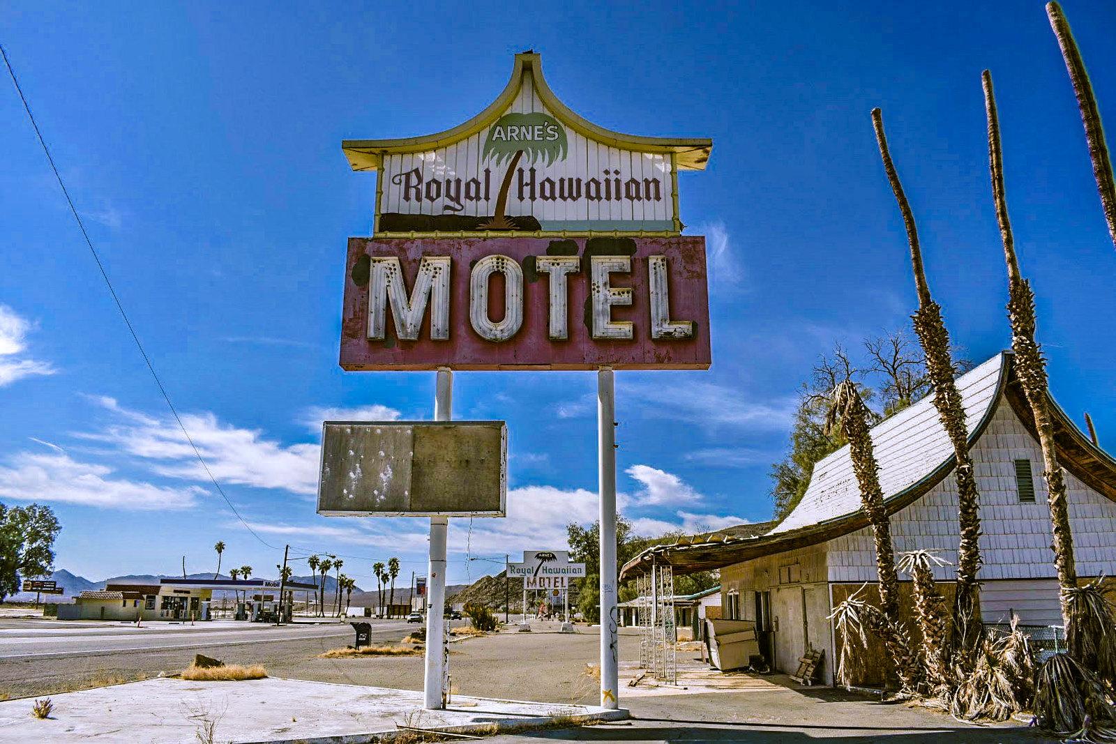Arne's Royal Hawaiian Motel - Baker, California U.S.A. - November 17, 2019