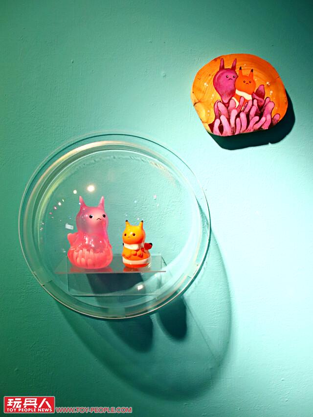 玩具探險隊:FUNK TOY 放克玩具 首次個展【Oo。°o放克玩具の深海派對Oo。°oOo。】Funk Toy-Party Under The Sea Exhibition at 靠邊走藝術空間 Wrong Galllery Taipei