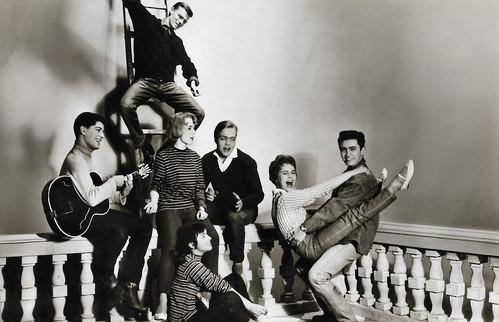 Conny Froboess, Rex Gildo, Richard Hellmann, Elke Arendt, Monika Leonhardt, Sergio Casmai and Hans Zander in Hula-Hopp, Conny (1959)