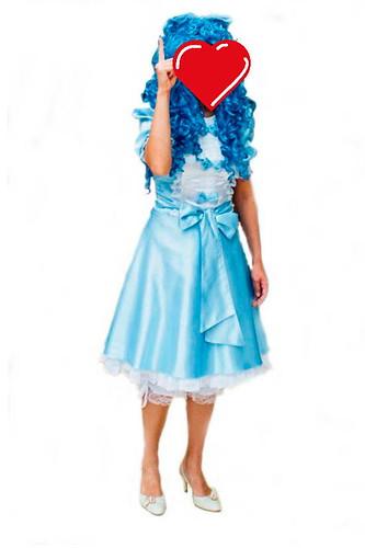 Женский карнавальный костюм Мальвина