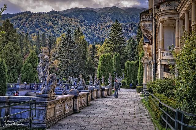 Garden of Peles Castle. Sinaia (Romania)