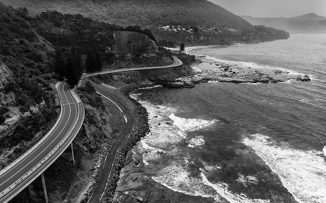 Sea Cliff Bridge B&W