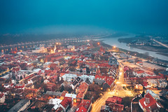 Foggy evening | Kaunas aerial #321/365