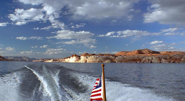 Cruising Lake Powell Utah.